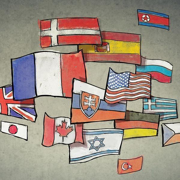 Narysowane flagi